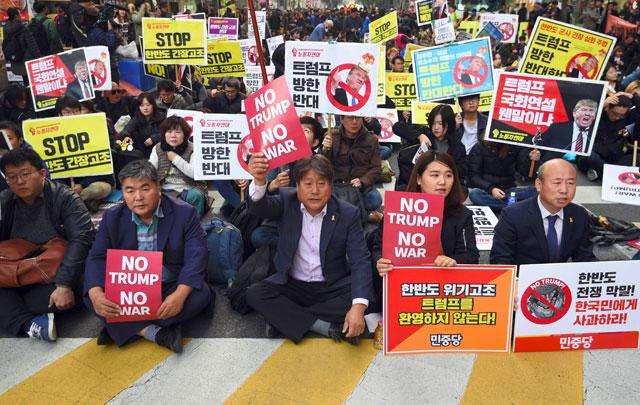 在韓米軍家族の退避訴え=北朝鮮と「衝突近づく」と米議員