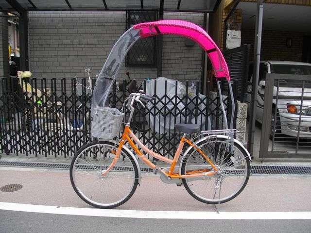 雨の日の自転車