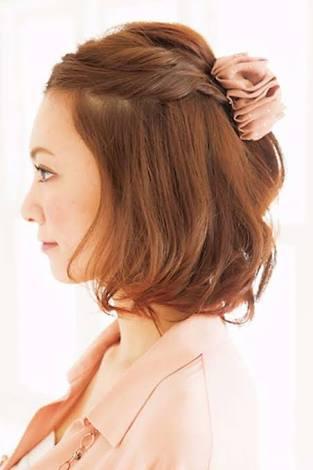 結婚式 ゲストの髪型