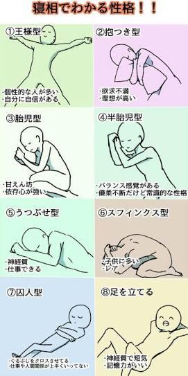 どの寝方で寝るのが寝やすいですか?