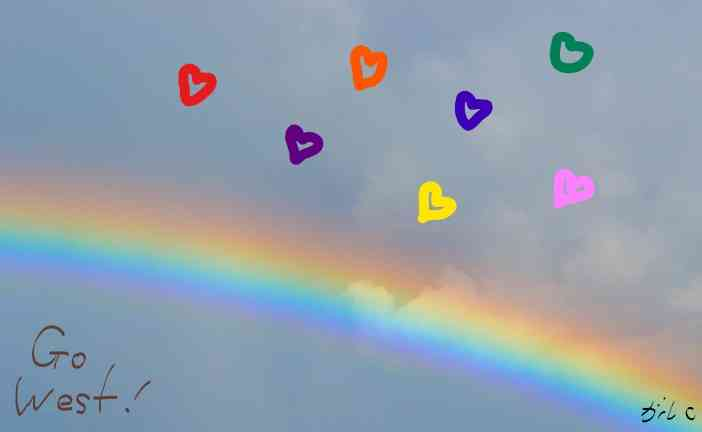 虹色の画像が見たい!