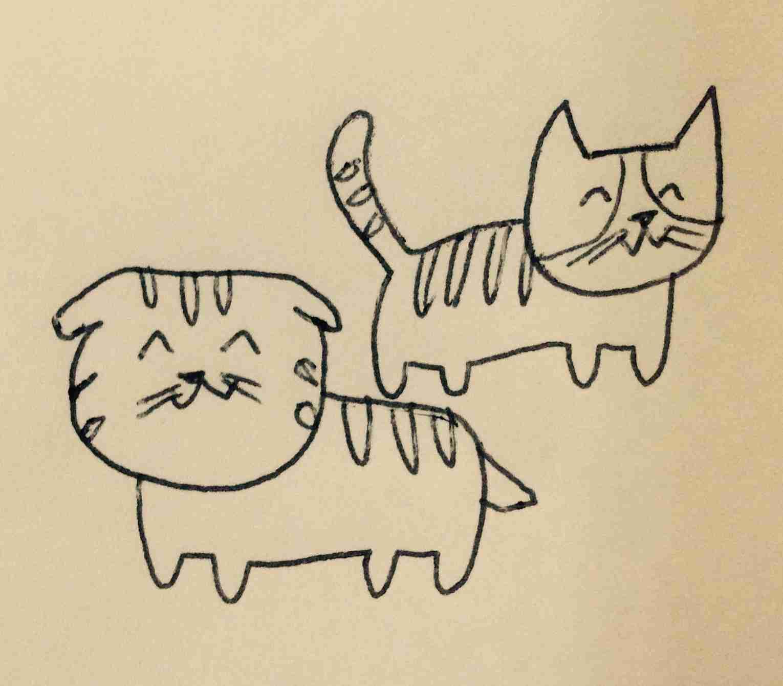 猫の絵を描こうにゃ♪