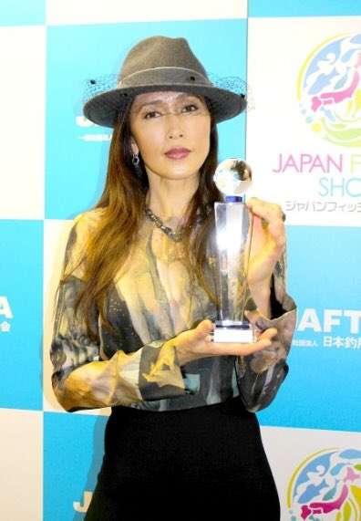 工藤静香、釣り歴30年以上で表彰され「東京湾の魚は制覇した感じ」
