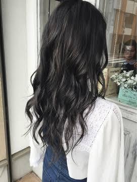 透明感のある黒髪の画像!