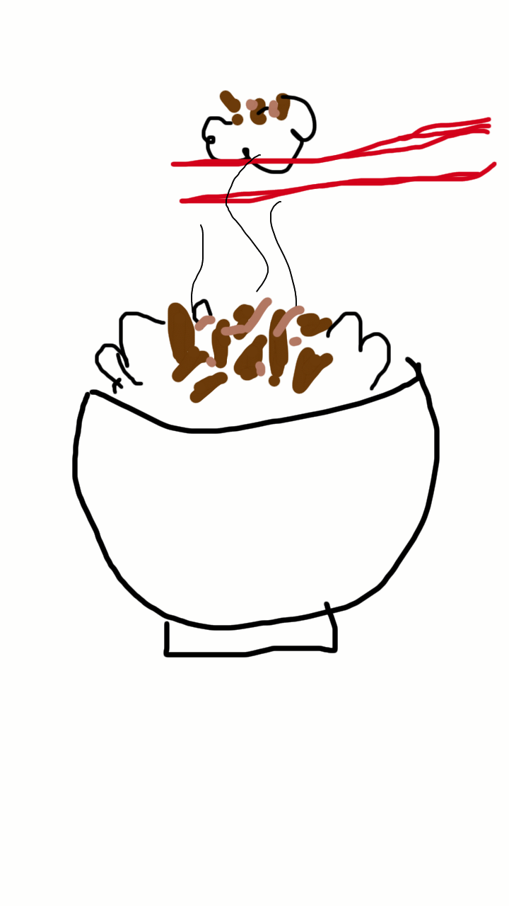 利き手じゃない方の手で好きな食べものを描いて下さい!