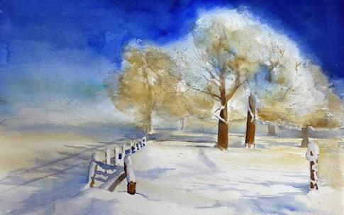 「雪」を描いた絵画を貼るトピ♪