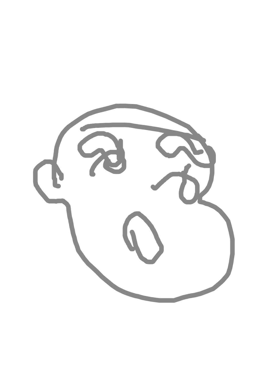 目を瞑ってキャラクターを描いてそれを当てるトピ