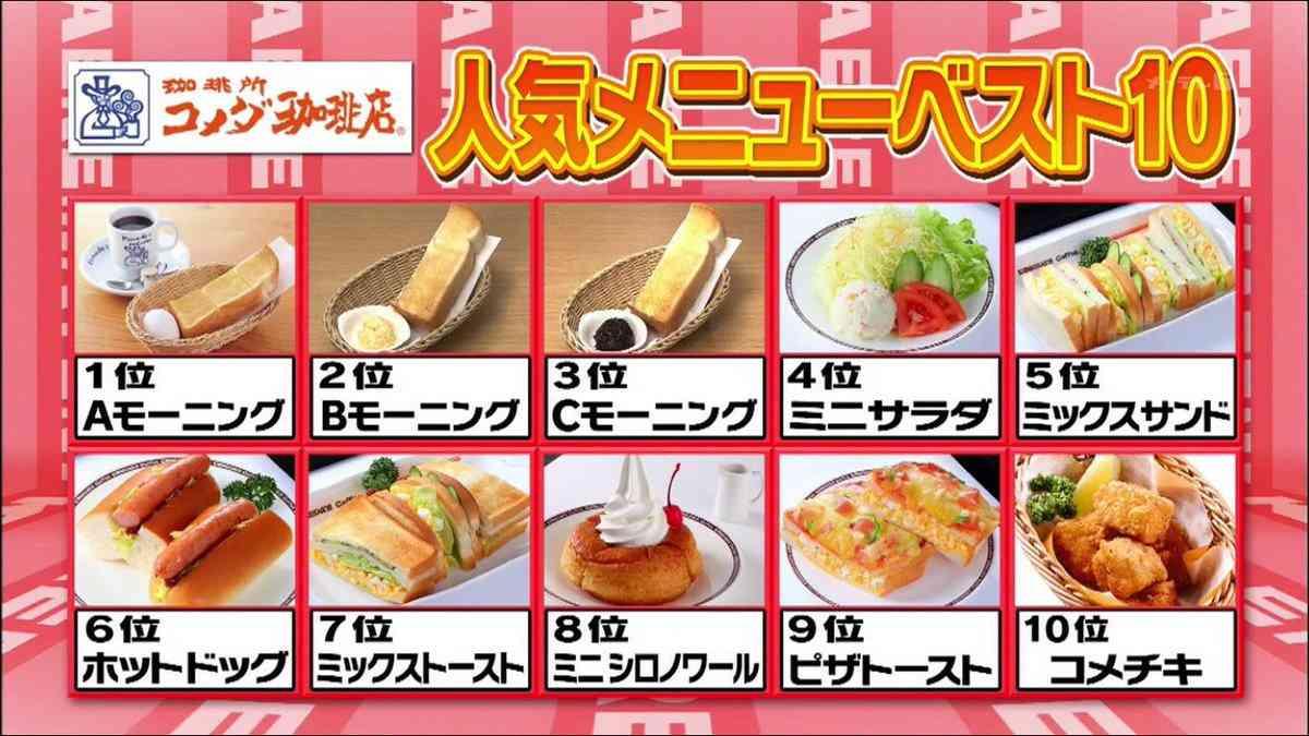 コメダ珈琲店オススメメニュー!