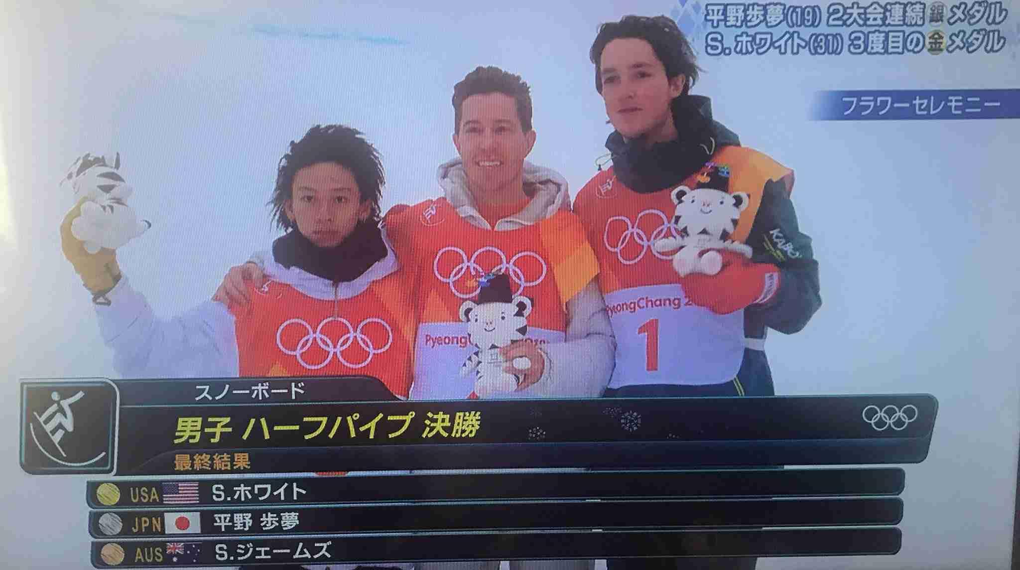 【平昌五輪】スノボ男子ハーフパイプ 平野歩夢が2大会連続の銀メダル獲得