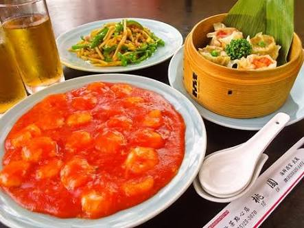美味しそうな中華料理を貼るトピ