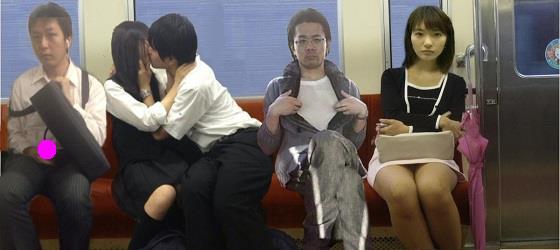 電車で見かけた変な人