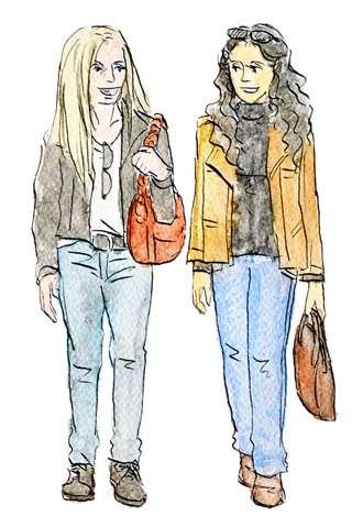 海外旅行の時のファッション