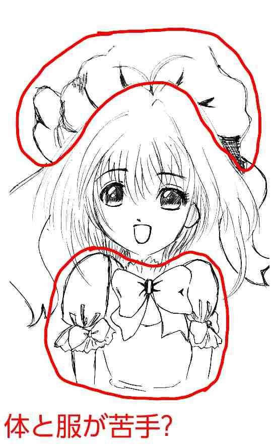 絵の上手い人に自分の絵に赤ペンいれて指導してもらうトピpart2