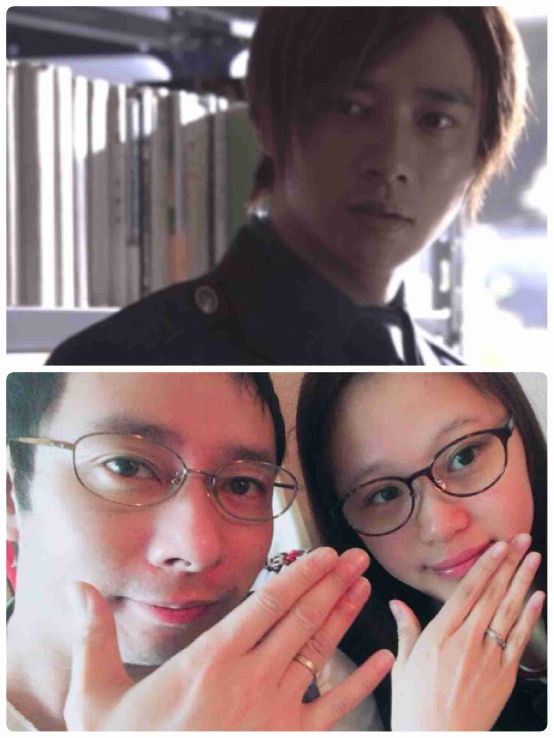 いしだ壱成と結婚の飯村貴子「いざ、入籍」 夫と結婚指輪掲げて2ショット