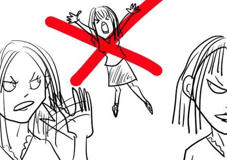女子のグループ問題