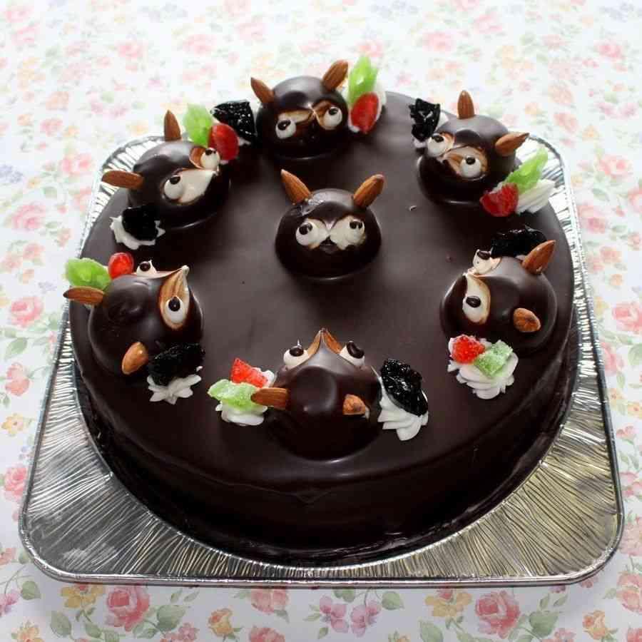 たぬきケーキの画像ください!