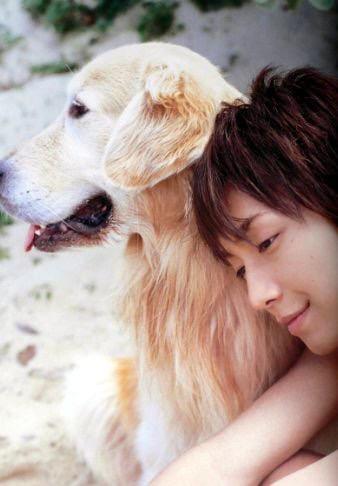 芸能人と犬の写真がみたい