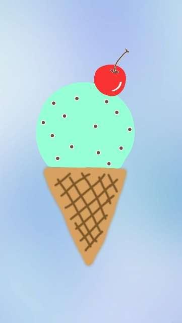 【初夏だ】アイスの絵を描くトピ【夏日だ】
