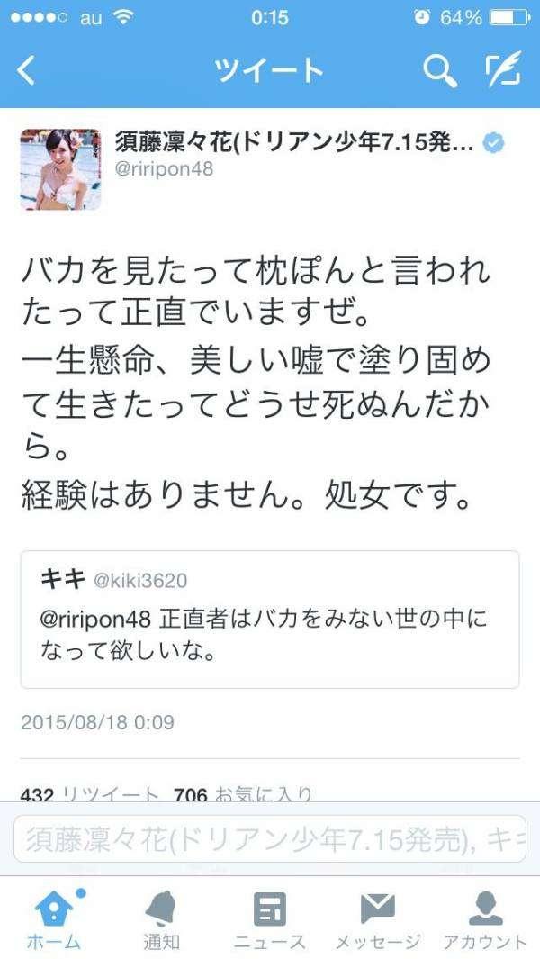 須藤凜々花のパスポート写真が「めちゃんこ可愛い」