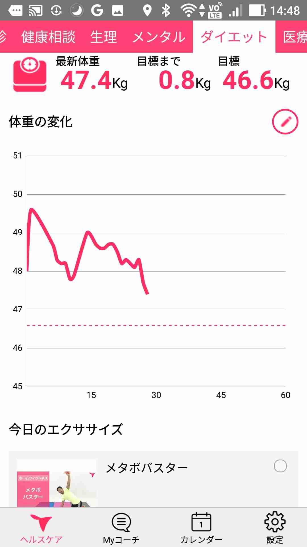 【ダイエットトピ】体重を記録するトピ【30日間】