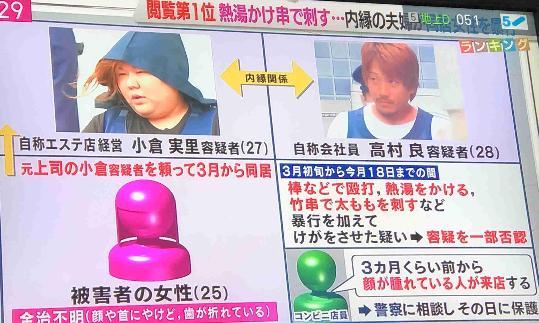 居候の25歳女性の歯をペンチで折り、熱湯かける 2カ月間にわたり虐待か 傷害容疑で同居の男女逮捕