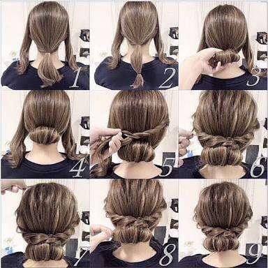 可愛いまとめ髪にしたい!
