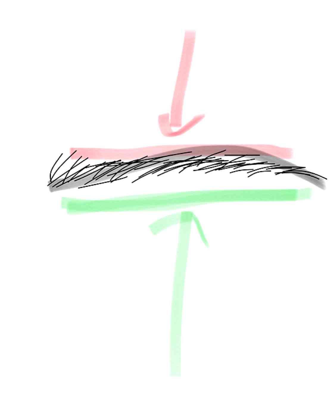 目と眉が離れている人
