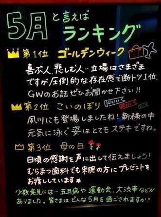 今月の雑談トピ 【2018年5月】