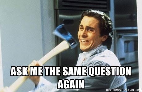 同じ質問をしてくる人