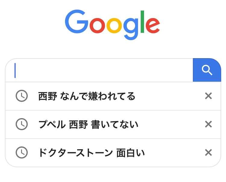 検索歴発表会