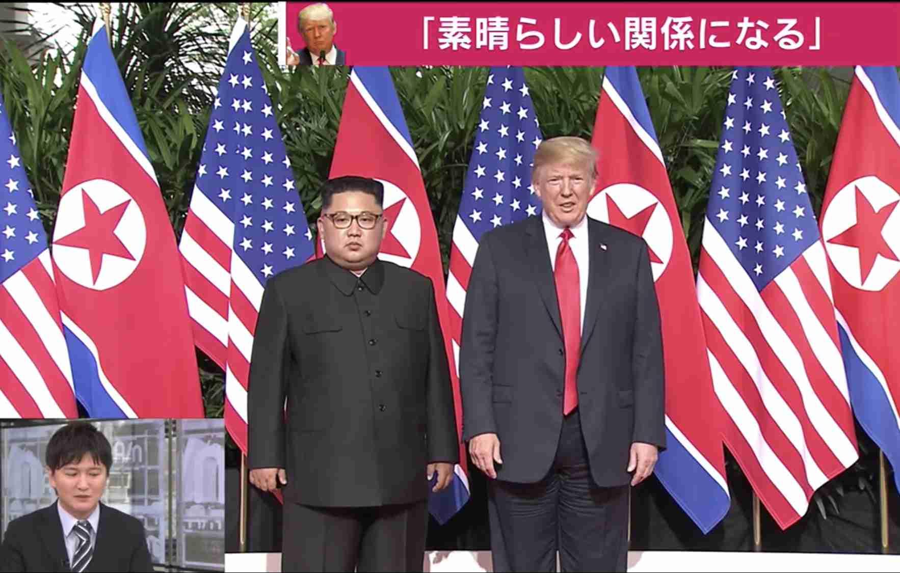 キム委員長もホテル出発 米朝首脳会談へ
