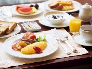 お店の朝食