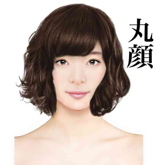 顔が短い人の髪型。