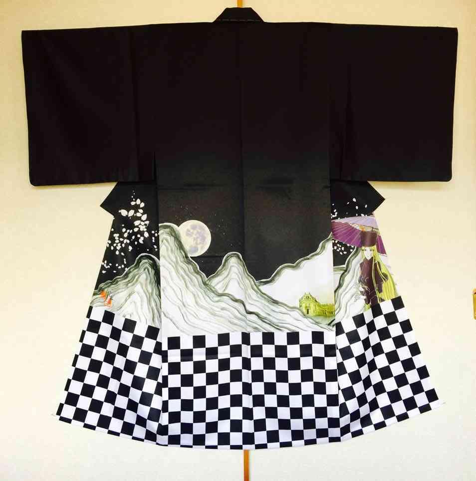 神田うの メーテル描かれた着物羽織って感激…知人アーティストが製作