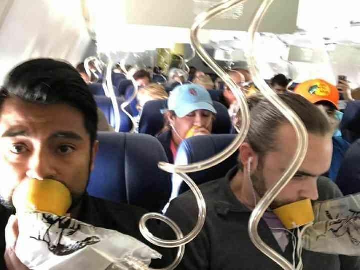 全日空機が関西国際空港に緊急着陸 乗客「顔半分痛くなった」