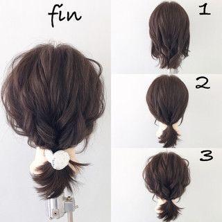 ミディアムボブの髪型