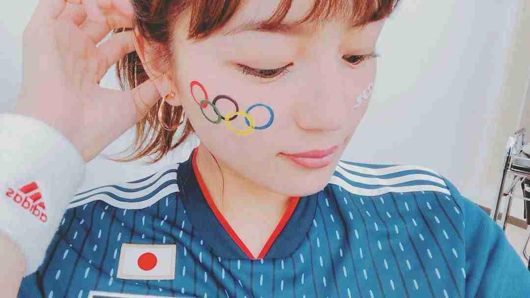 """川口春奈、W杯「最高でした!」と""""五輪ペイント""""自撮りアップ「なぜオリンピック!笑」"""