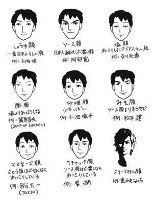 どの系統の顔が好き?