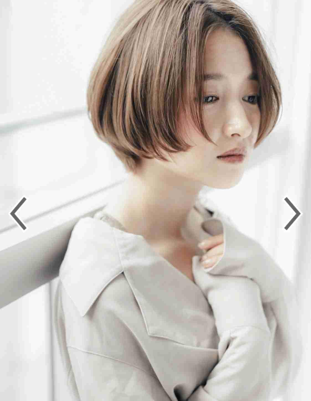 面長のショートヘアー