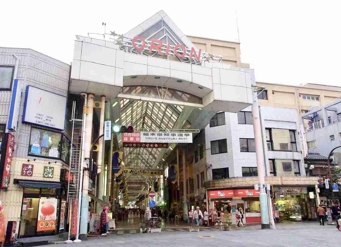 商店街を眺めるトピ