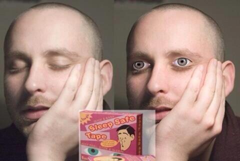 泣き明かして目が腫れてる時!