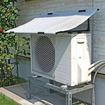 バケツの水にタオルの端を浸して広げるだけ エアコン室外機の冷却アイデアに反響