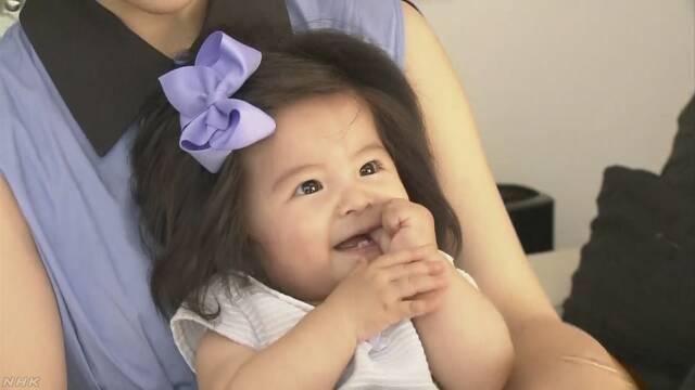 髪の毛がふさふさの「爆毛」赤ちゃん 世界中で話題に