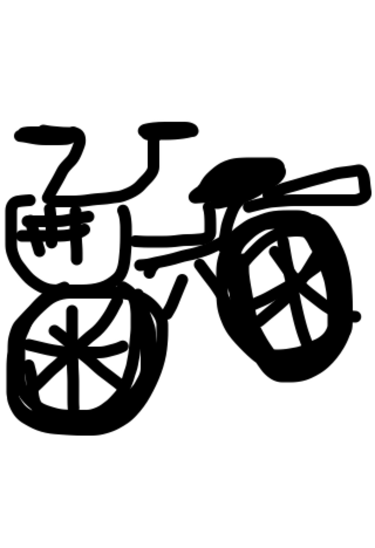 「自転車の絵かいて~」と言われたらどんな絵かきますか?part2
