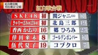 SKE48 きゃりーぱみゅぱみゅ ももクロ 金爆が、紅白歌合戦に初出場 - YouTube