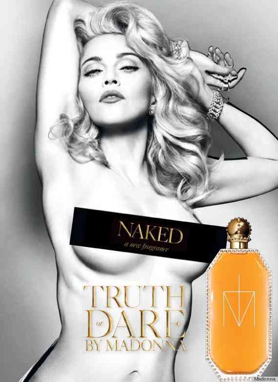 マドンナ(54歳)が香水の新広告でトップレスに…修正し過ぎだと話題に