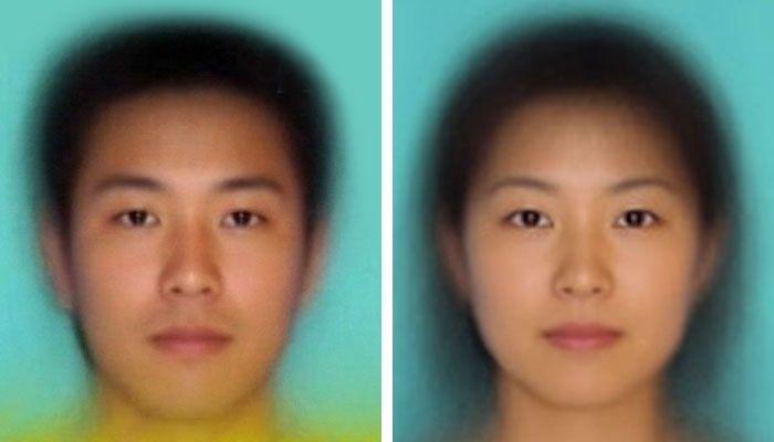 これが20代女性の平均的な顔(中の上)の顔らしい