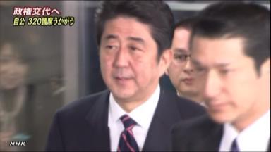 政権交代が確実 自民単独過半数の情勢 NHKニュース