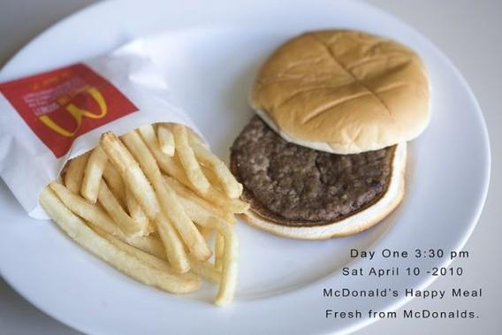 まだ続いていたマクドナルド、ハッピーミール放置プロジェクト、979日後のハンバーガーとポテトの状況画像 : カラパイア