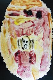 @nifty:デイリーポータルZ:調味料やジャムで芸術的な絵を描く!